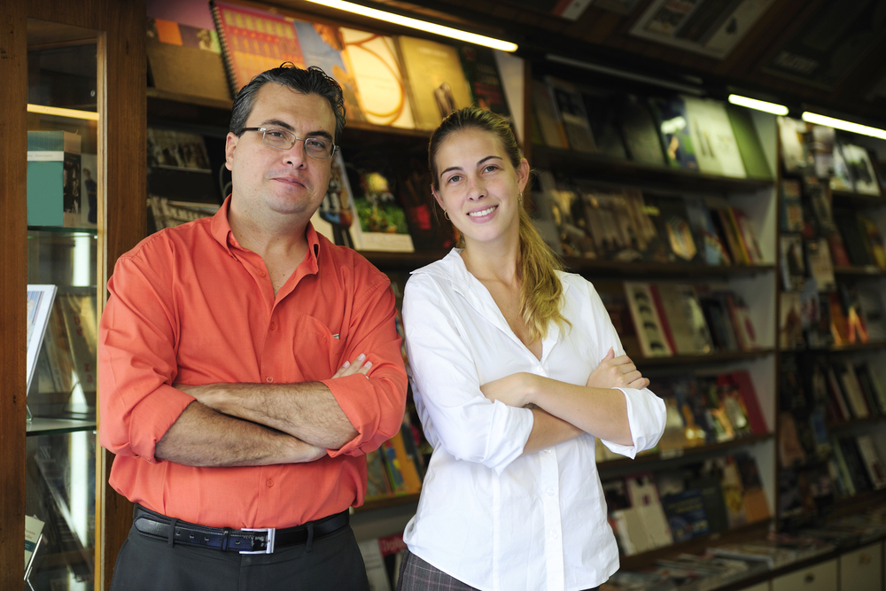 Photo of Father and Daughter at their business.
