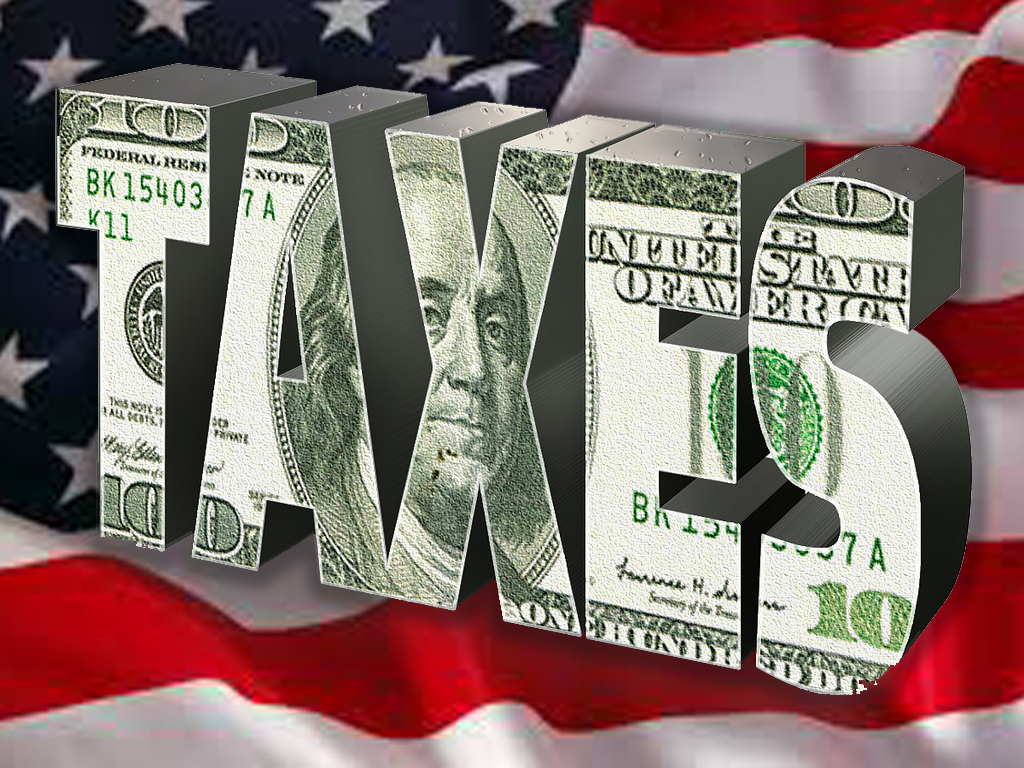 American Flag and Taxes