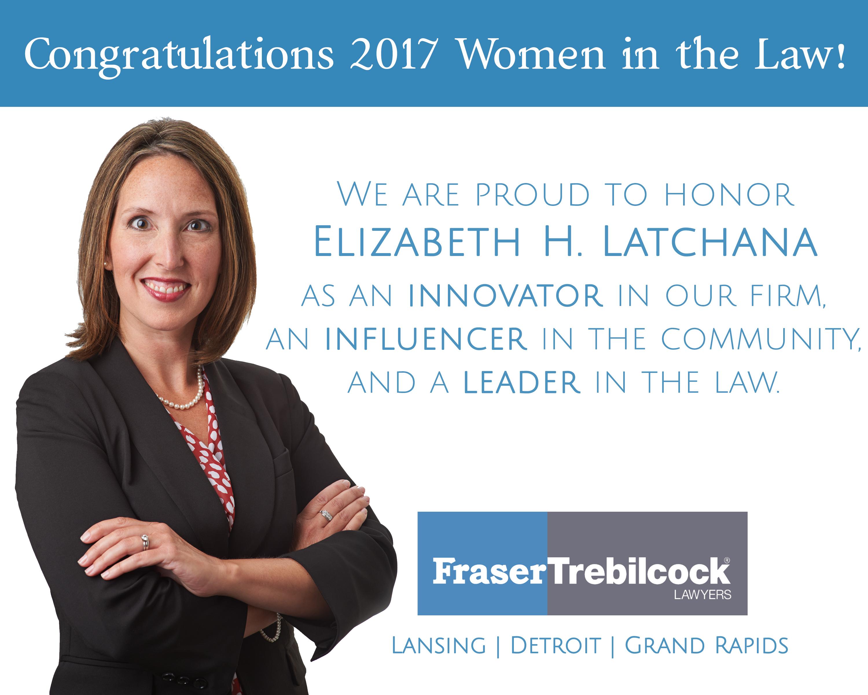 Elizabeth Latchana Honored by Michigan Lawyers Weekly