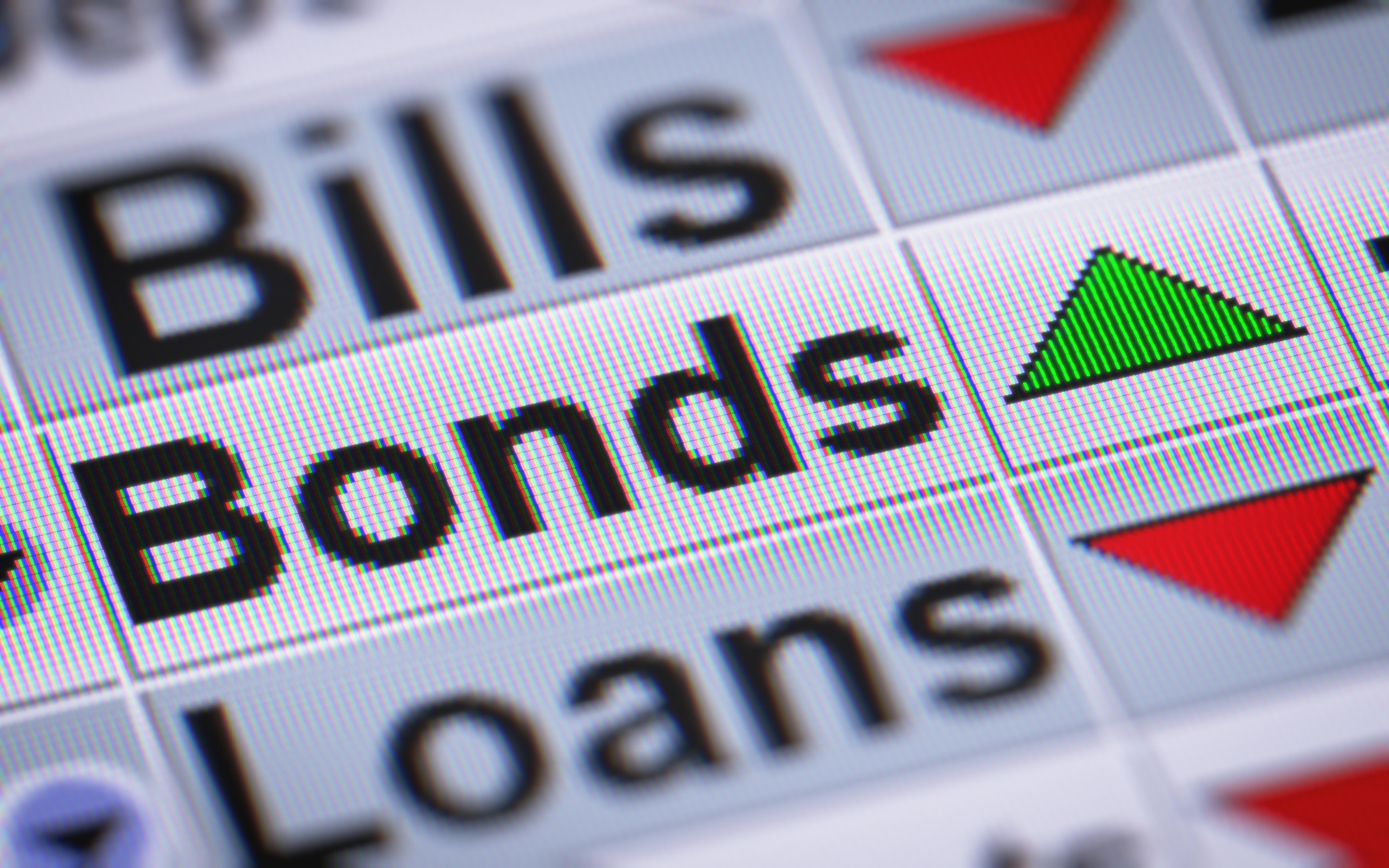 Bonds increasing in value